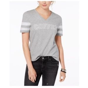 Pretty Rebellious Coffee Cotton Graphic T-Shirt